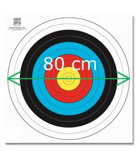 Blason FITA Papier Armé 80cm a partir de 100