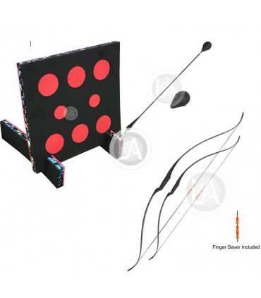 Kit pour Animation BATTLE-ARCHERY (1 arc, 3 fléches, Cible 80 cm 8 troues)